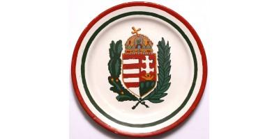 Magyar címeres Gránit dísztányér