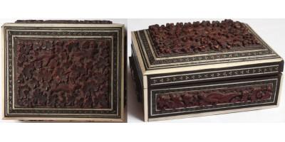 Indiai Mogul faragott berakásos doboz 19. század