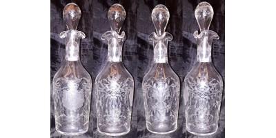 István nádor 1847-48 asztali készletéből származó metszett üvegpalack RR!