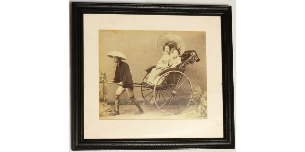 Japán gésák kocsin művész fotó 1880 körül R!