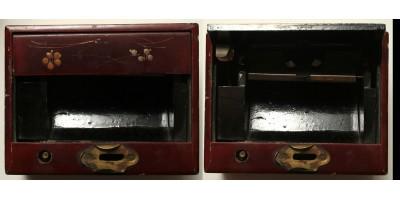 Japán lakk cigaretta kínáló doboz 20. század első fele