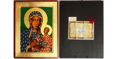 Lengyel Czestochowai Szűz Mária ikon, görög munka
