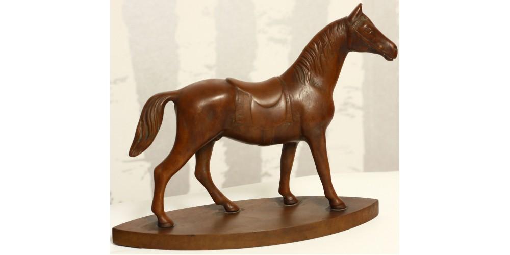 Lóverseny emlék bakelit szobor 1930-as évek