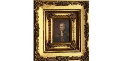 Miniatűr portré ismeretlen katonatiszt 19. század