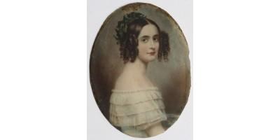"""Miniatűr portré """"Frapié"""" szignóval 18. század vége - 19. század eleje"""