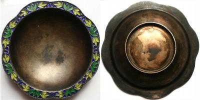 Cári orosz zománcos ezüst hamutartó 1900 körül