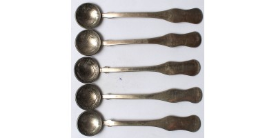 Patrióta kiskanalak 1840, 1845, 1848-as 20 krajcárból 5 db