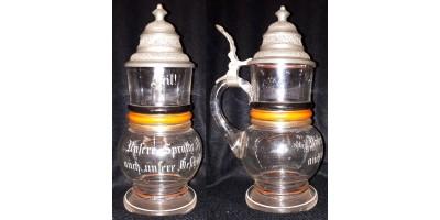 Német historizáló sörös kupa 1900 körül