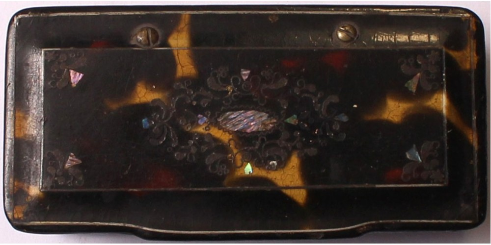 Lakk szelence teknőspáncélt utánzó mintával 19. század