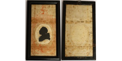Sziluett kép - árnykép 1780 R!