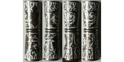 Thaiföld ezüst mész tartó (bétel rágáshoz) 20. század