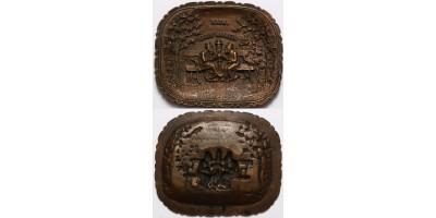 Judaika három haszid zsidó beszélget bronz hamutál 1900 körül R!