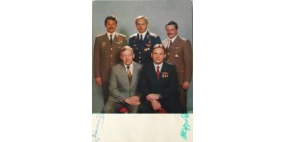 Interkozmosz 1980 Farkas Bertalan és Magyari Béla aláírása