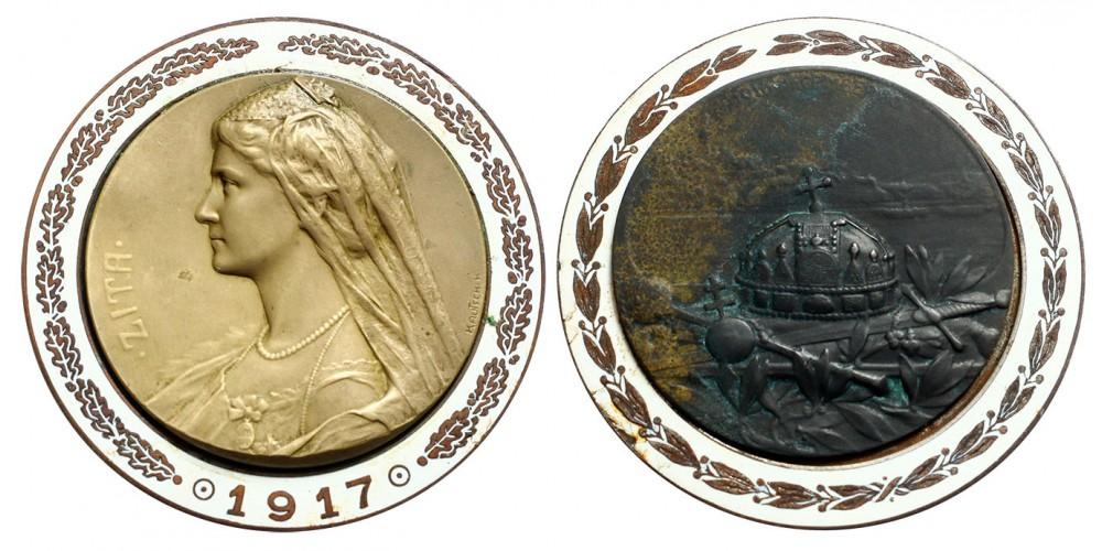 Zita királyné koronázási érem 1917