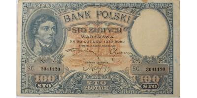 Lengyelország 100 zlotych 1919 (1924)