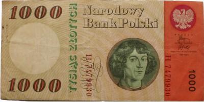Lengyelország Kopernikusz 1000 zloty 1965