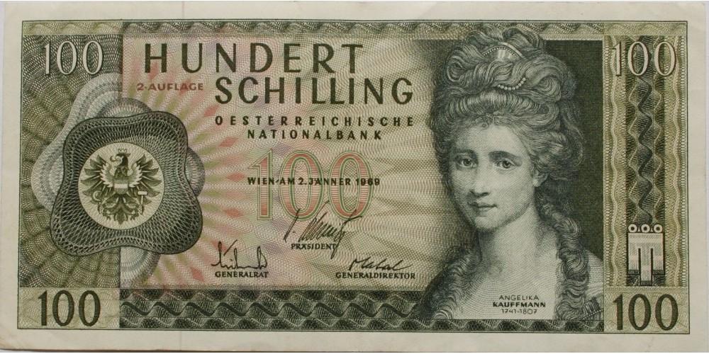 Ausztria 100 schilling 1969