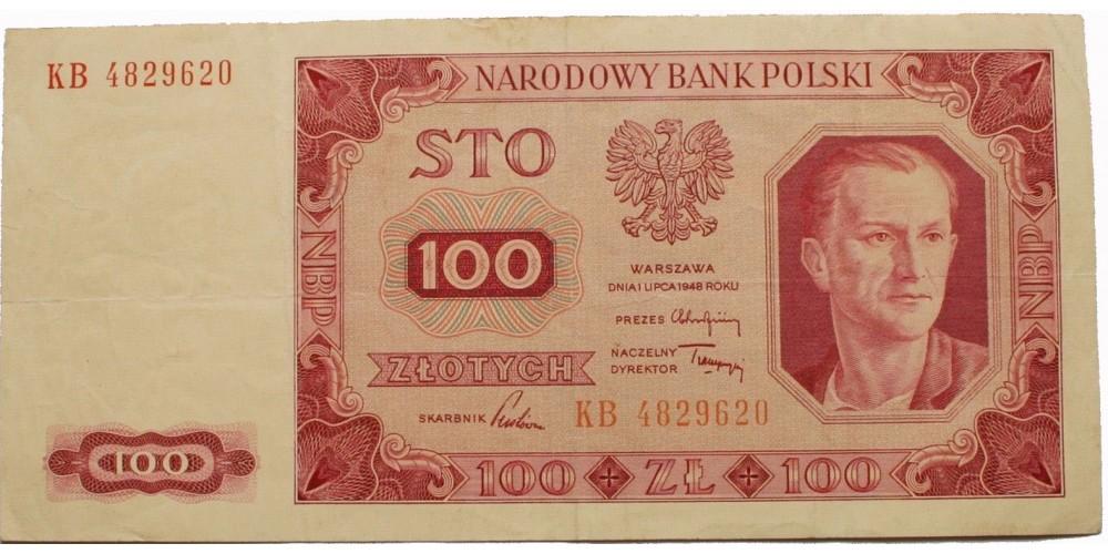 Lengyelország 100 zloty 1948