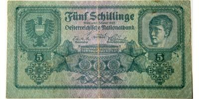 Ausztria 5 schilling 1925 RR!