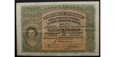 Svájc 50 Frank 1939