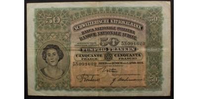 Svájc 50 Frank 1924