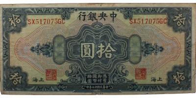 Kína 10 yuan 1928