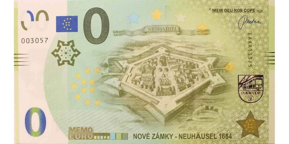 Érsekújvár 1684 memo euro - szlovák 0 euro bankjegy