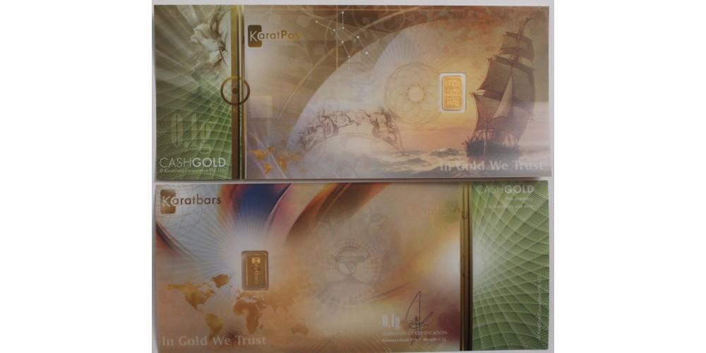 Amerikai fantázia bankjegy (plasztik) benne 0,1 grammos aranytömb (Au.999)