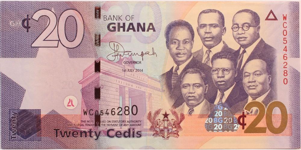 Ghána 20 cedis 2014