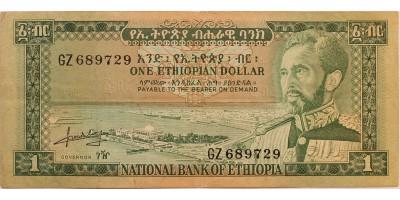 Etiópia 1 dollár (1966)