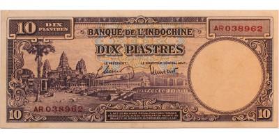 Francia Indokína 10 piastre (1947)