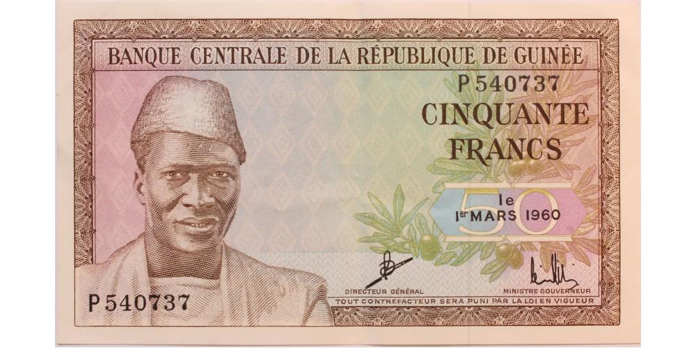 Guinea 50 frank 1960