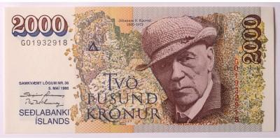Izland 2000 korona 1986 R!