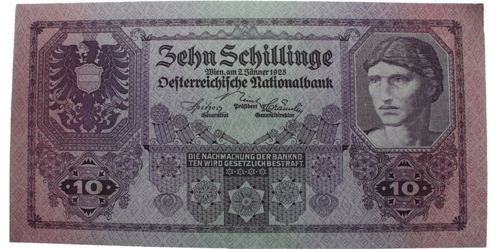 Ausztria 10 schilling 1925 RR!