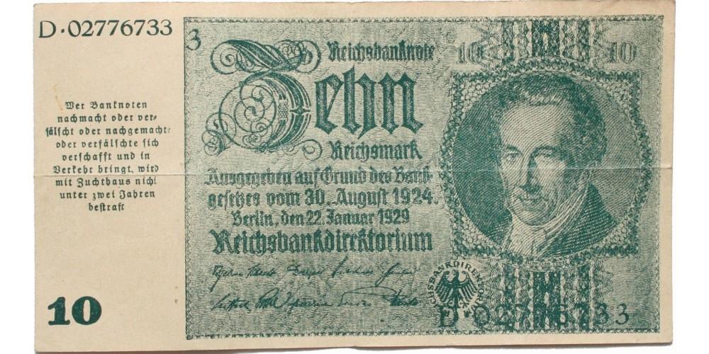 Ausztria II. vh. 10 márka 1945 Graz, Linz, Salzburg RR!