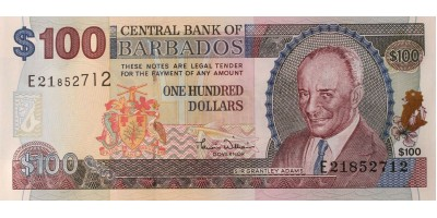 Barbados 100 dollár (2000)