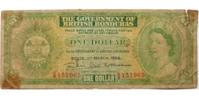 Brit Honduras 1 dollár 1956 RR!