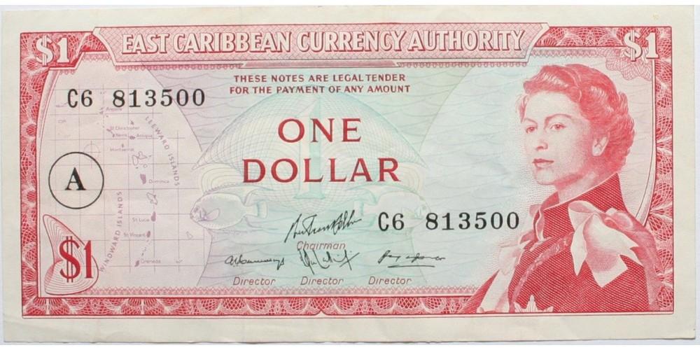 Kelet-Karibi Államok Antigua 1 dollár 1965