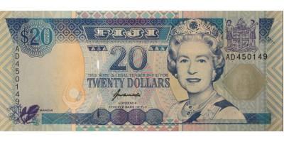 Fidzsi-szigetek 20 dollár (1996)
