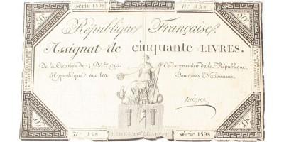 Francia forradalom 50 livre 1792