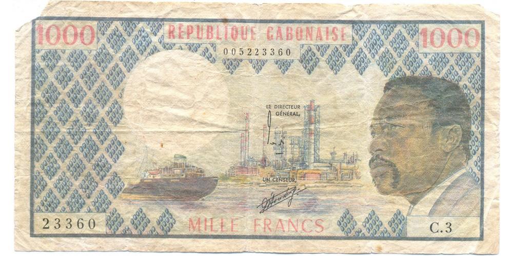 Gabon 1000 frank 1974