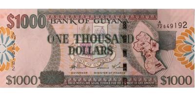Guyana 1000 dollár (2006)