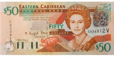 Kelet-Karibi Államok 50 dollár (2003) V