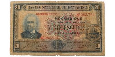 Mozambik 20 escudo 1937 R!