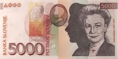 Szlovénia 5000 tolar 2004