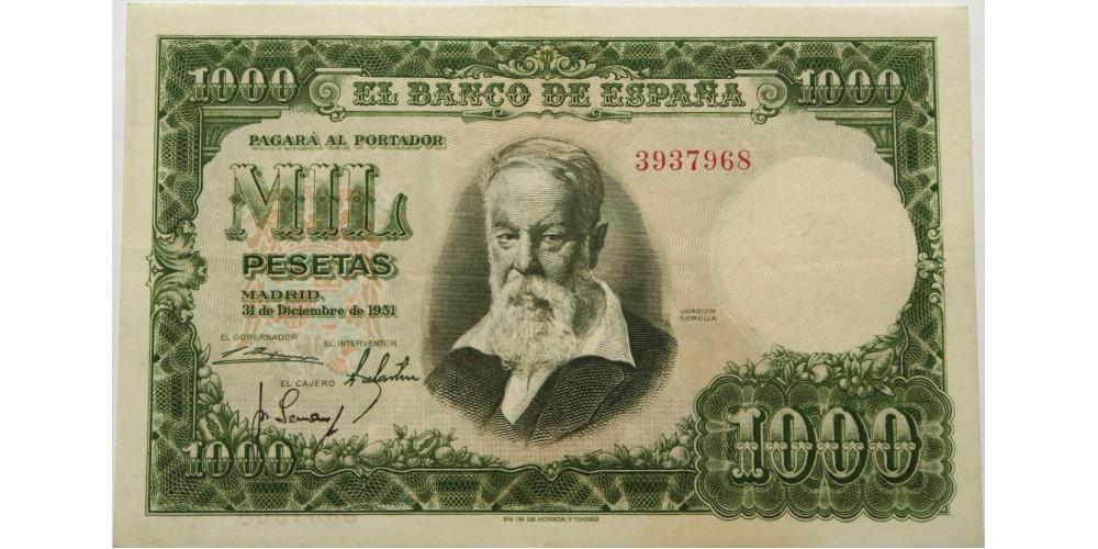 Spanyolország 1000 peseta 1951