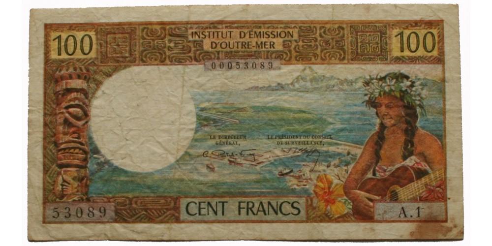 Tahiti 100 frank 1969