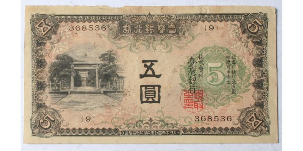 Kína Taiwan 5 yen én. (1934) R!
