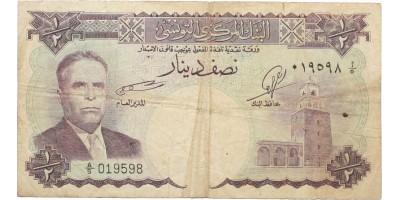 Tunézia 1/2 dinar 1958