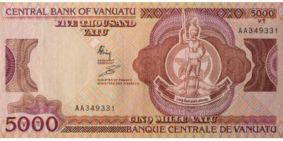 Vanuatu 5000 vatu (1989)